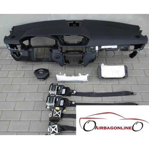 Mercedes E Klasse W212 FL Complete Airbag Set Dashboard Leer