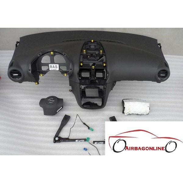 Opel Corsa D Facelift Complete Airbag Set Dashboard