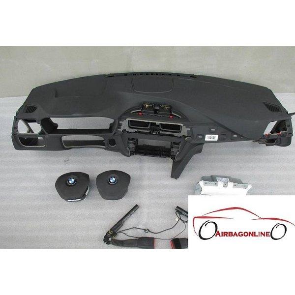 BMW 3 Serie F30 F31 Complete Airbag Set Dashboard Zwart