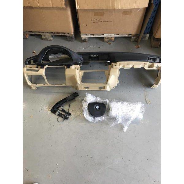5er F10 F11 Airbag Set Dashboard Zwart Beige