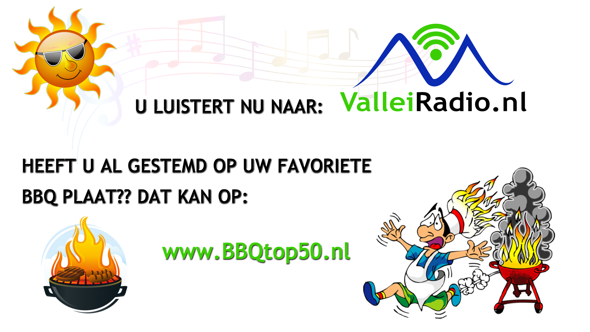 Stem op de BBQ top 50 van ValleiRadio