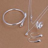 Sterling zilver Dames sieraden in een set van druppel
