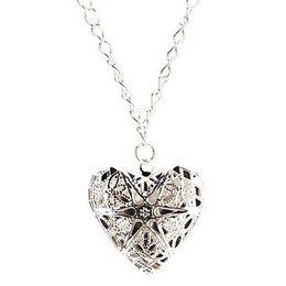 Zilveren halsketting met hart