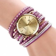 Ladies Watch with circuit flocking tie Purple color