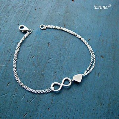 Sweet bedel armband oneindigheid charme met hartje