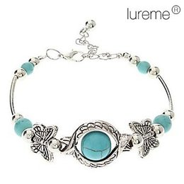 Vintage Bohemian Style Butterfly Turquoise Armband