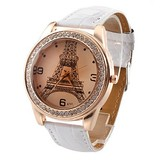 Trendy ladies watch with Eiffel Tower