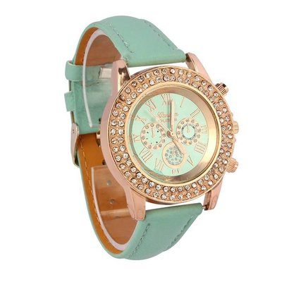 Dames horloge Vogue met kristalen analog rose gold
