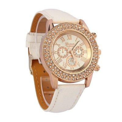 Dames horloge Vogue met kristalen analog rose gold