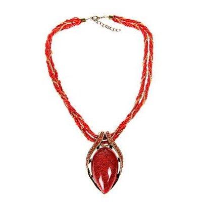 Bohemien retro rood versierd met kleine kristalen