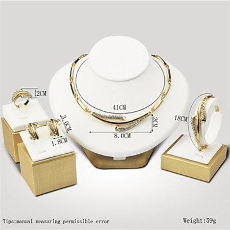 Elegante sieraden set goud kleur met schakels ketting