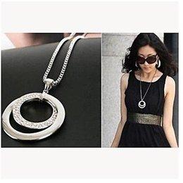Modieuse ketting met ringen hangertje