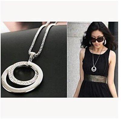 Modieuze ketting met ringen hangertje