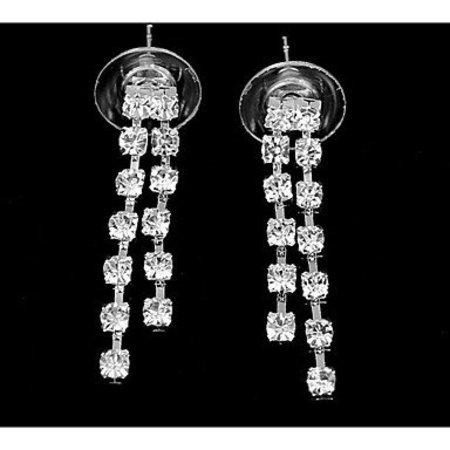 Elegante sieraden in een set verzilverde koper met kristalen