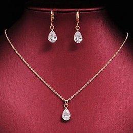 Leuke sieraden set goud kleur met zirkoon