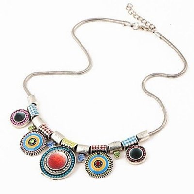 Multicolor choker ketting- punk style