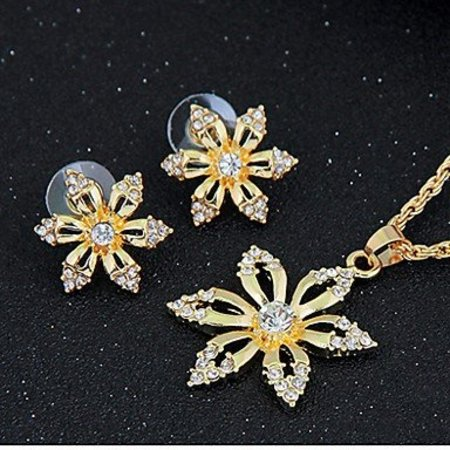 Rose gold verguld met zirkonia ketting hanger,oorbellen