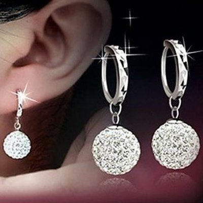 Sterling zilver druppel oorbellen met ring kubieke zirkonia