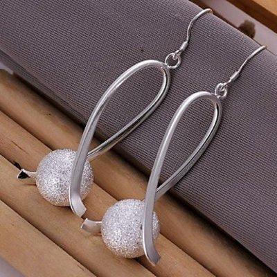 Elegante Sterling zilver oorbellen druppel met bal
