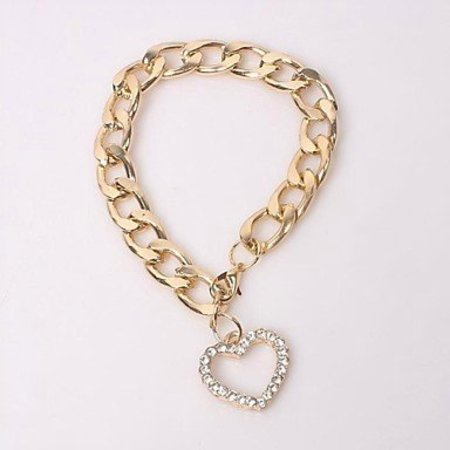 Trendy Armband met hartje in goud kleur