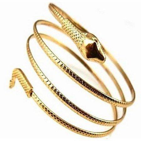 Bohemien armbanden met slang goud kleur legering