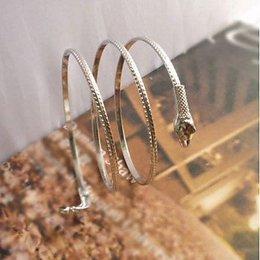 Armband met slang meerdere lagen in zilver kleur