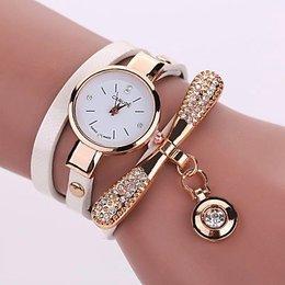 Modieuze dames horloge met wit goud kleur
