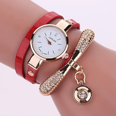 Modieuze dames horloge met rood goud kleur