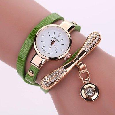 Modieuze dames horloge met groen goud kleur