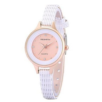 Trendy dameshorloge met kristalen wit armband