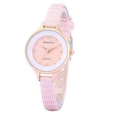 Trendy dameshorloge met kristalen roze armband