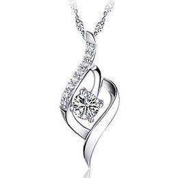 Trendy ketting sterling zilver met hangertje