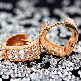 Oorbellen oorknopjes van sterling zilver goud kleur met zirkonia