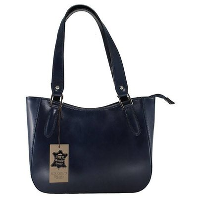 Elegante klassieke model handtas of schoudertas donker blauw kleur