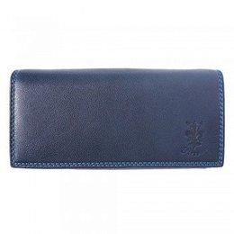 Zacht kalf leder portemonnee donker blauw kleur