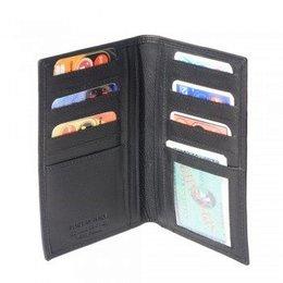 Leder portemonnee zacht kalfsleer zwart kleur