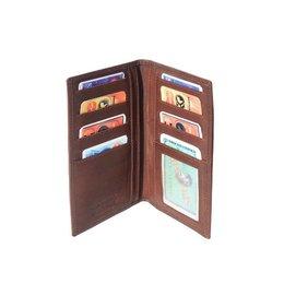 Leder portemonnee zacht kalfsleer donker bruin kleur