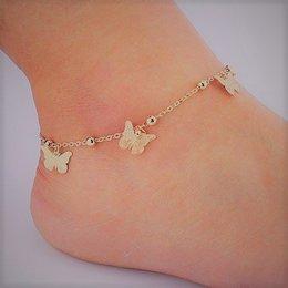 Enkel sieraden, enkel armband slot gouden kleur met vlinders
