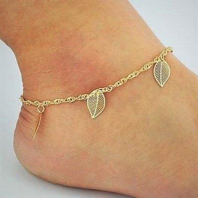 Enkel sieraden, enkel armband slot gouden kleur