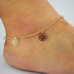 Enkel sieraden, enkel armband slot gouden kleur met rozen
