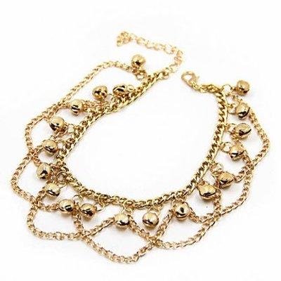Enkel sieraden, enkel ring armband slot gouden kleur met kwasten bohemien