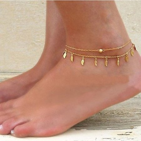 Enkel sieraden gouden kleur versierd met pareltje hangertjes