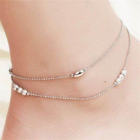 Enkel sieraden, enkel armband slot zilver kleur versierd met belletjes