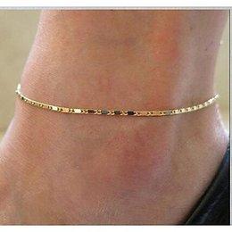 Enkel sieraden, enkel ring armband gouden kleur met zwart