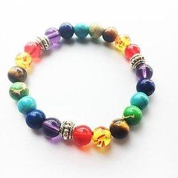 Strand armbanden voor dames en heren regenboog kleuren