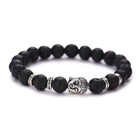 Strand armband vintage zwart zilver kleur Yoga geometrische vorm
