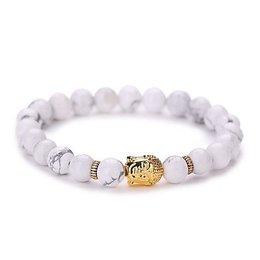 Strand armband vintage geometrisch wit goud kleur Yoga