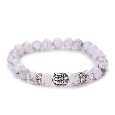 Strand armband vintage geometrisch wit zilver kleur Yoga