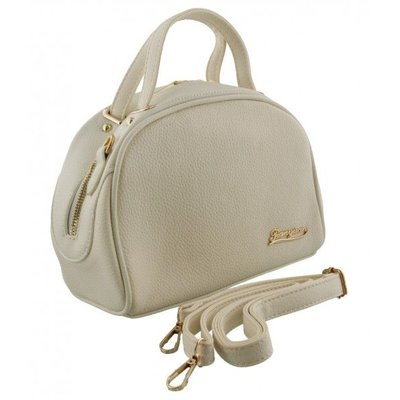 Mooie handtas met schouderband gebroken wit