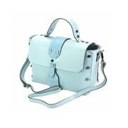 Elegante handtas met sterke lijnen Sky blue Rossella
